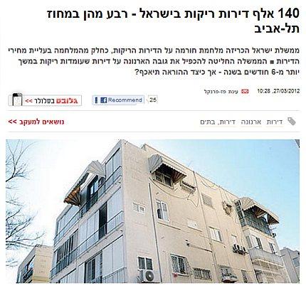 140 אלף דירות ריקות