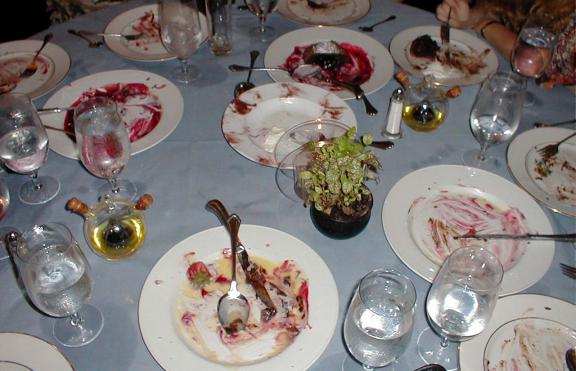 אחרי ארוחה חגיגית, צריך להסיר את הלכלוך הקשה מהכלים