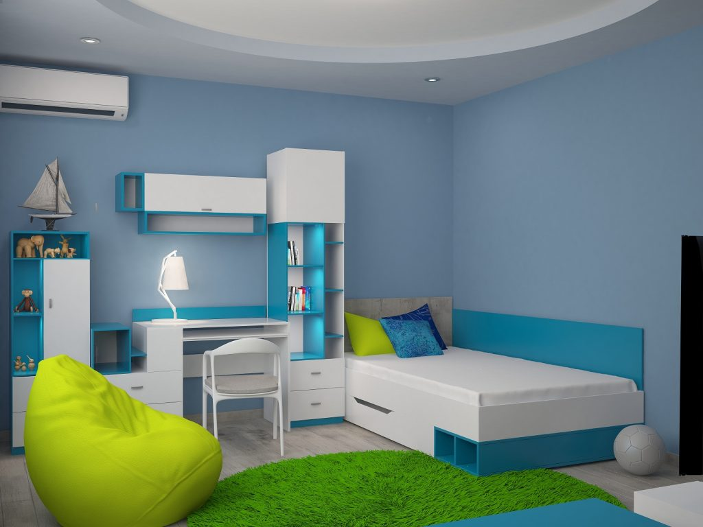3d rendering of a nursery interior design